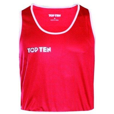 Boxing shirt, TOP TEN, AIBA, red/white