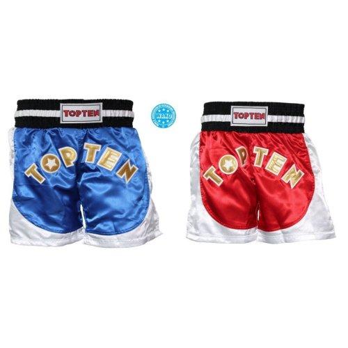 Kick-box nadrág, Top Ten, Kick Light, WAKO, Piros-fehér szín, XXL méret