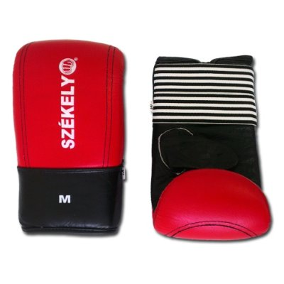 Bag gloves, Székely, leather, red