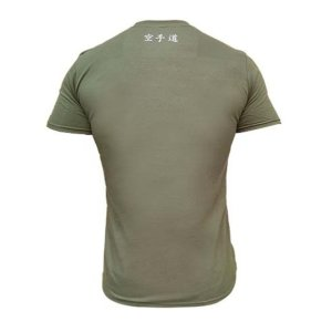 Póló, Saman, Karate-Do Authentic, pamut, military zöld
