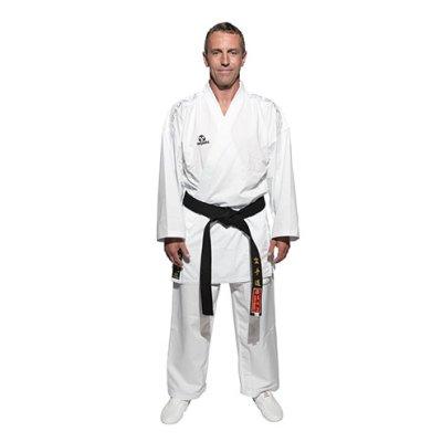 """Karate ruha, Hayashi, WKF, kumite, """"Delux Kumite"""", fehér, hímzett, extra szellőzéssel"""