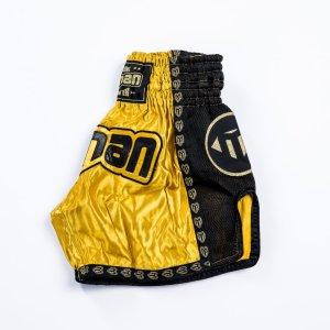 Thai-Box nadrág, Saman, Colours 1985, polyester, arany/fekete