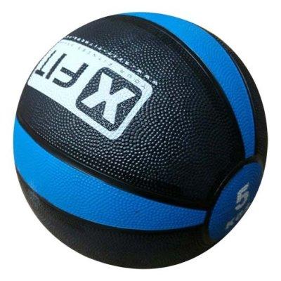 Medicine ball, XFIT, rubber, 5kg