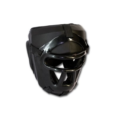Head guard, Saman, with face protection, black