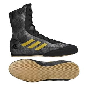 Boxing shoes, adidas, BoxHog Plus, black/gold, 40 2/3 méret