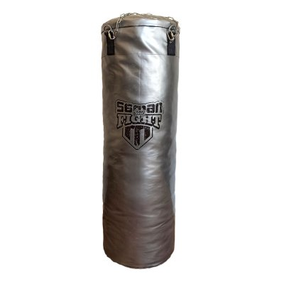 Punching bag, Saman, Spirit of Fight, silver, 120x40, PU, with chain