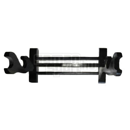 Sword Stand, wooden, black, for 2 sword tw