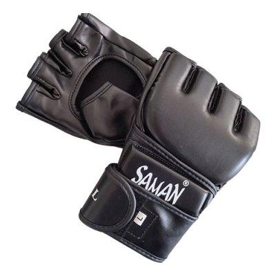 MMA kesztyű, Training , Saman, skyntex, hajlított, fekete