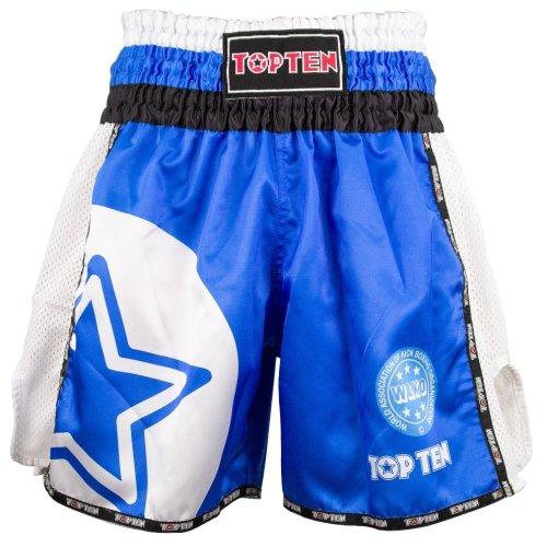 Kick-box nadrág, Top Ten, WAKO Star, Kék szín, L méret