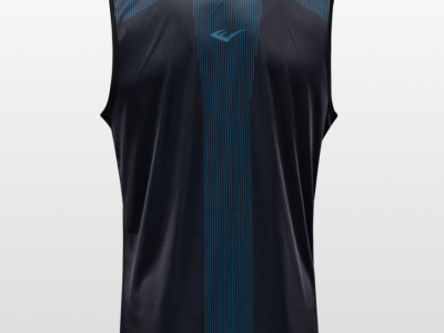 Box trikó, Jab, férfi, fekete-kék