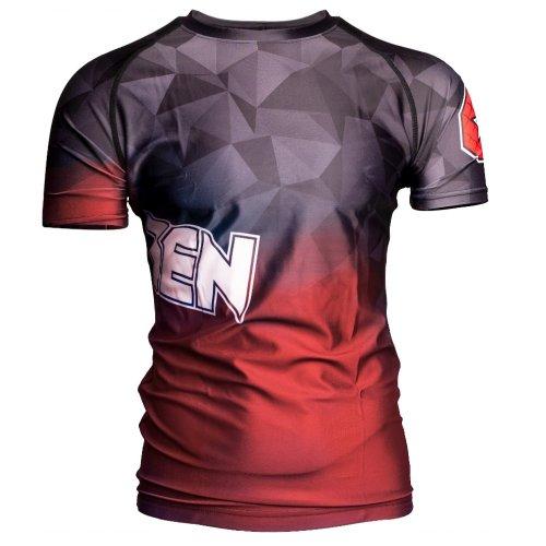 MMA Rashguard, Top Ten, Prism, Piros szín, XL méret