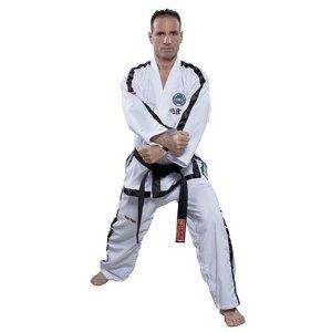 Taekwondo ruha, Top Ten, Instructor Diamond ITF, 4-6 dan, fehér