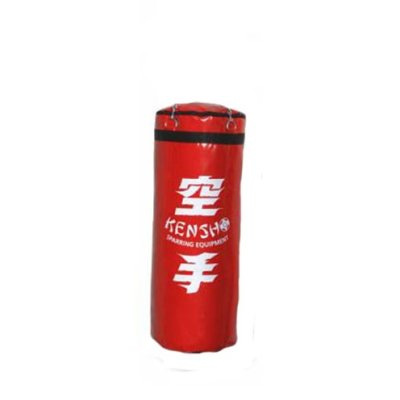 Boxzsák, 100 cm-ig, PU, Kensho, piros