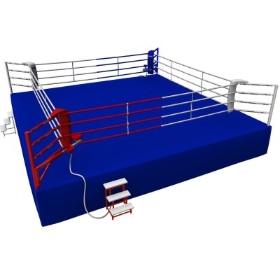 Competition Boxing Ring, Saman, 7,8x7,8m, 4 ropes, AIBA rules