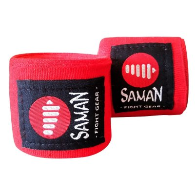 Bandage, Saman, flexible, 350cm, red