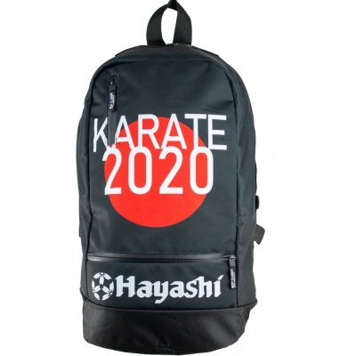 Backpack, Hacashi, Karate 2020, black-red