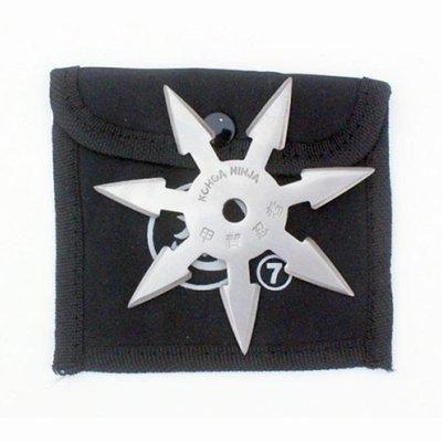 Shuriken, steel, 7 nibbed