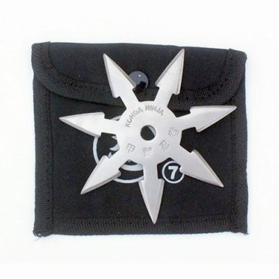 Shuriken, steel, 7 nibbed