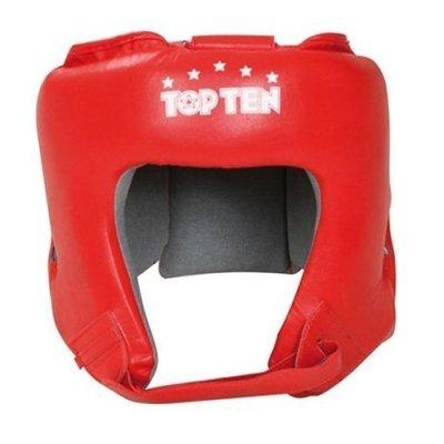 Boxe Headguard, TOP TEN, AIBA, red