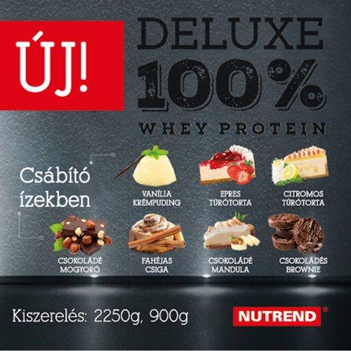 Nutrend, Deluxe 100% Whey Protein, 2250G 7 ízben, Fahéjas tekercs ízek