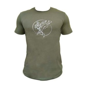 T-shirt, Saman, Karate, cotton, military green, M méret