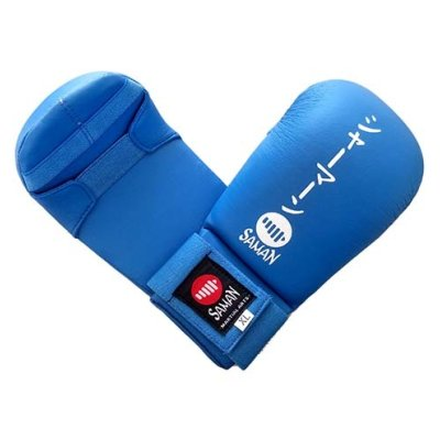 Karate mitt, Saman, Competition, karate, artificial leather, blue