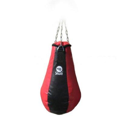 Boxzsák, Saman, kiskörte, PU, lánccal