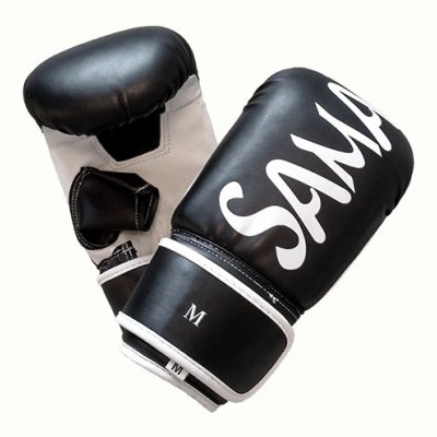 Bag gloves, Saman, artificial leather, black/white, Smash