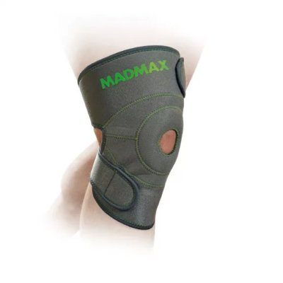 Universal Knee Support, Madmax, with patella stabilizer, grey