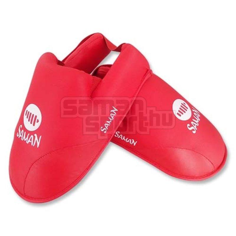 Lábfejvédő, Saman, karate, PU, piros