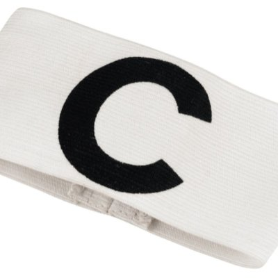Captainband, velcro, white