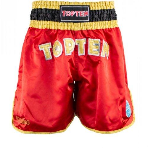 Kick-box nadrág, Top Ten, Rövidnadrág, WAKO, Piros szín, S méret