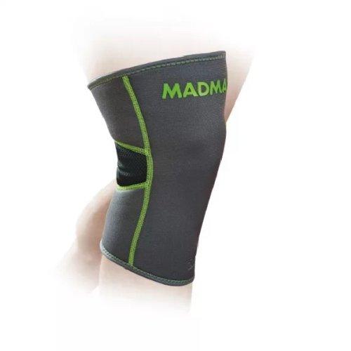 Térdvédő, Madmax, Zahoprene és neoprén anyagból, szürke, S méret