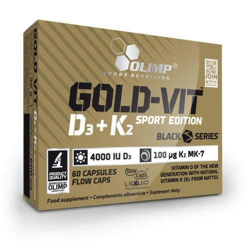 OLIMP Gold Vit D3 + K2 SPORT EDITION, 60 capsules