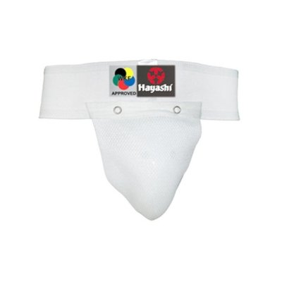 Groin guard, Hayashi, WKF, cotton, white