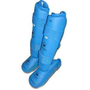 Shinpad with removable instep pad, Tokaido, WKF, blue