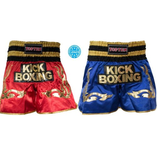 "Thai boxing shorts ""WAKO Kickboxing"", Piros szín, XL méret"