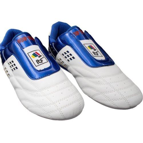 """Martial Arts Shoes """"ITF"""" - white-blue, 45 méret"""