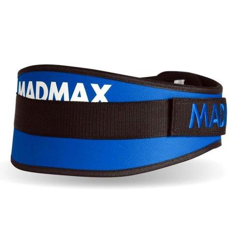 """Súlyemelő öv, Madmax, Simply The Best 6"""", szintetikus, Kék szín, M méret"""