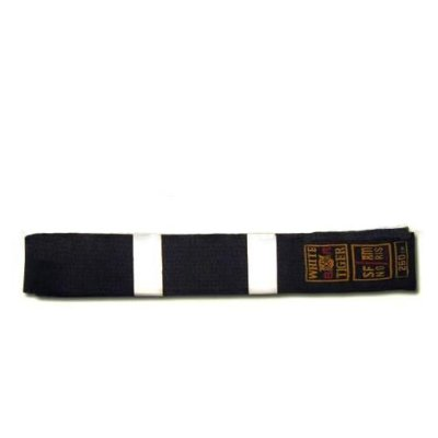 Belt, Noris, black, silk