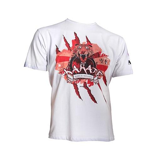 T-Shirt, Hayashi, Tiger, white, XXL size