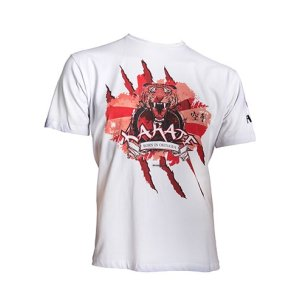 T-Shirt, Hayashi, Tiger, white, XS size