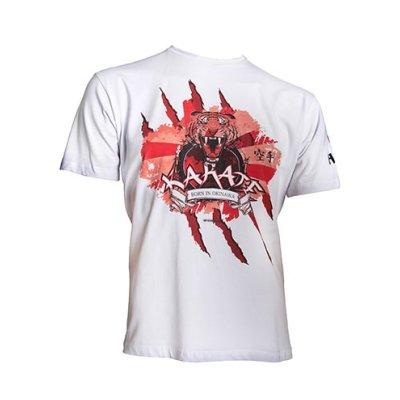 T-Shirt, Hayashi, Tiger, white