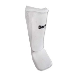 Shin and instep pad, Saman, elastic, white