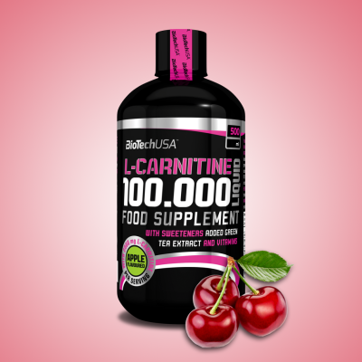 Biotech, L-Carnitine 100.000, 500 ml cseresznye