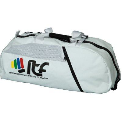 "Backpack-Sportsbag-Dufflebag combination ""ITF"" - 55 cm x 29 cm x 27 cm, white"