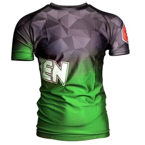 MMA Rashguard, Top Ten, Prism, Zöld szín, XXL méret