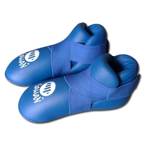 Lábfejvédő, Saman, tépőzáras,  PU, kék