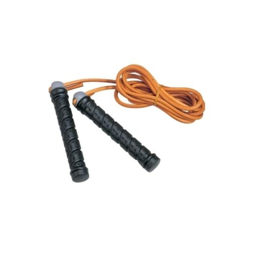 Skipping-rope, Phoenix, with weighted grips and leather rope