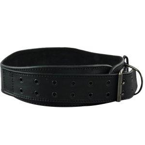 Súlyemelő öv, Madmax, Full Leather Restless and Wild, bőr, fekete